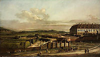 The imperial summer residence, courtyard, view from north, 1758, bellotto