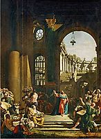 Jesus Cleansing the Temple, 1773, bellotto
