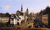 The Marketplace at Pirna, c.1760, bellotto