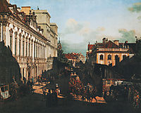 Miodowa Street, 1777, bellotto