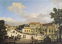 Mniszech Palace in Warsaw, 1779, bellotto