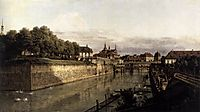 The Moat of the Zwinger in Dresden, c.1751, bellotto
