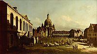 The Neuer Marktplatz in Dresden, 1747, bellotto