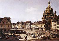 New Market Square in Dresden, 1750, bellotto