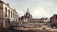 New Market Square in Dresden from the Jüdenhof, c.1750, bellotto