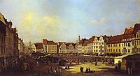 The Old Market Square in Dresden, c.1750, bellotto