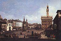 The Piazza della Signoria in Florence, c.1742, bellotto