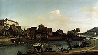 Pirna Seen from the Harbour Town, c.1754, bellotto