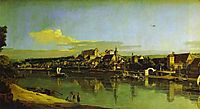 Pirna Seen from the Right Bank of the Elbe, c.1750, bellotto
