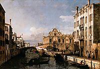 Rio dei Mendicanti and the Scuola di San Marco, 1738, bellotto