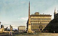 Rome: View of the Piazza di San Giovanni in Laterano, c.1744, bellotto