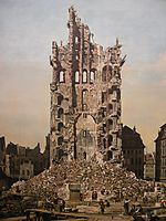Ruins of Dresden-s Kreuzkirche, 1765, bellotto