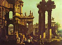 Ruins of a Temple, bellotto