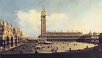San Marco Square from the Clock Tower Facing the Procuratie Nuove, bellotto