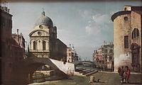 Venetian Capriccio, View of Santa Maria dei Miracoli, c.1740, bellotto