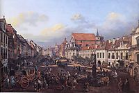 View of Cracow Suburb leading to the Castle Square, 1774, bellotto