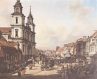 View of Cracow Suburb from Nowy Świat street, 1778, bellotto
