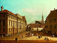 A view of the Lobkowicz Palace in Vienna, 1761, bellotto