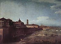View of Turin from the Gardens of the Palazzo Reale, 1745, bellotto
