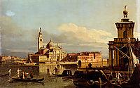 A View In Venice From The Punta Della Dogana Towards San-Giorgio Maggiore, bellotto