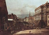 View of Vienna, flour market of Southwest seen from northeast, 1760, bellotto