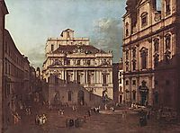View of Vienna, square in front of the university, seen from the southeast off the great hall of the University, bellotto
