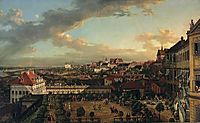 View of Warsaw from the terrace of the Royal Castle, 1773, bellotto