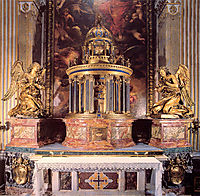 Altar of the Cappella del Sacramento, bernini