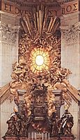 The Throne of Saint Peter, 1666, bernini