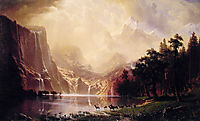 Among the Sierra Nevada Mountains, California, 1868, bierstadt