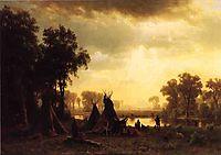 An Indian Encampment, 1861, bierstadt