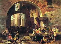 The Arch of Octavius, 1858, bierstadt