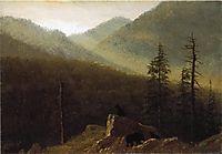Bears in the Wilderness, c.1870, bierstadt