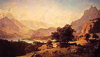 Bernese Alps, as Seen near Kusmach, 1859, bierstadt