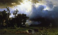 Buffalo Trail the Impending Storm, 1869, bierstadt