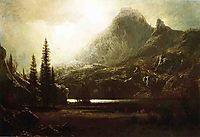 By a Mountain Lake, bierstadt