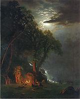 Campfire Site, Yosemite, c.1873, bierstadt