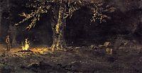Campfire, Yosemite Valley, bierstadt