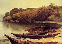 Canoes, 1888, bierstadt