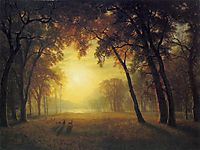 Deer in a Clearing, bierstadt