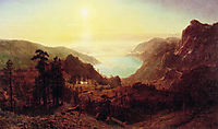 Donner Lake from the Summit, 1873, bierstadt
