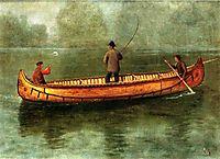 Fishing from a Canoe, 1859, bierstadt