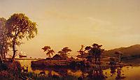 Gosnold at Cuttyhunk, 1858, bierstadt