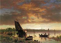 Harbor Scene, c.1860, bierstadt