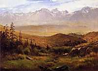In the Foothills of the Mountains, bierstadt