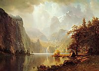 In the Mountains, 1867, bierstadt