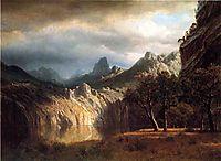 In Western Mountains, bierstadt