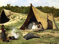 Indian Camp, 1859, bierstadt