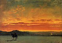 Indian Rider at Sunset, bierstadt