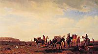 Indians Travelling Near Fort Laramie, 1861, bierstadt